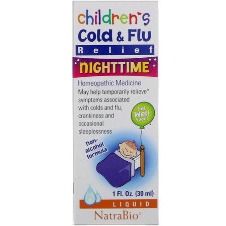 NatraBio Children's Cold & Flu Relief Nighttime Drops 1oz