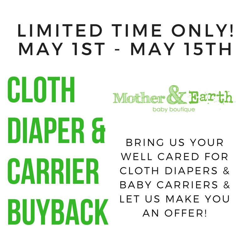 Cloth Diaper & Baby Carrier Buy Back!