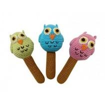 Hand Crochet Rattle Owl