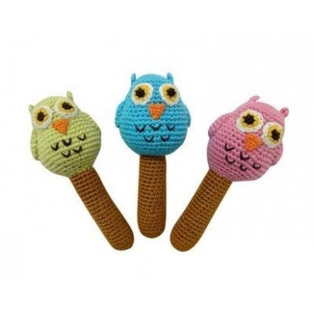Cheengoo Hand Crochet Rattle Owl by Cheengoo