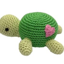 Hand Crocheted Rattle- Turtle