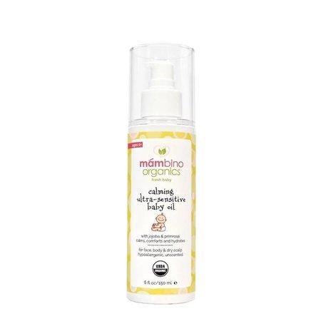 Mambino Organic Calming Ultra Sensitive Baby Oil, Jojoba + Primrose by Mambino Organics