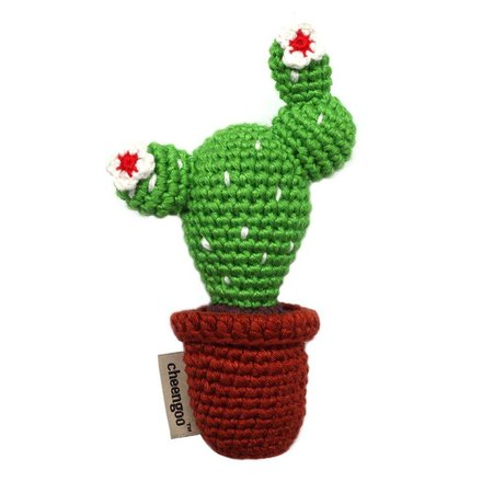 Cheengoo Hand Crocheted Rattle- Cactus