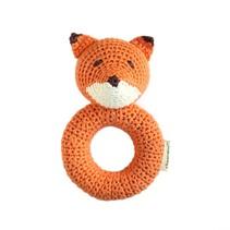Hand Crocheted Fox Ring Rattle