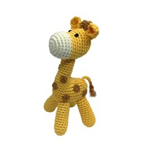 Hand Crocheted Rattle - Giraffe