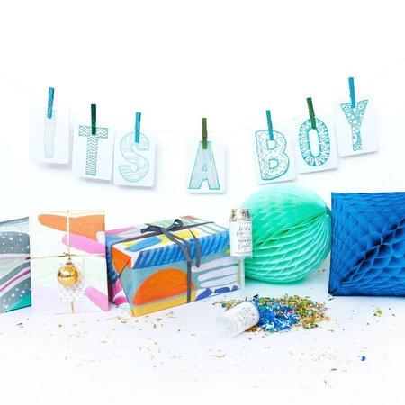 "Indigo Fair Letterpress DIY Banner Kit | 4"" x 6"" Card Size"