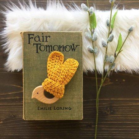 Lewie & Berg Crocheted Wooden Bird Teething Ring by Lewie & Berg