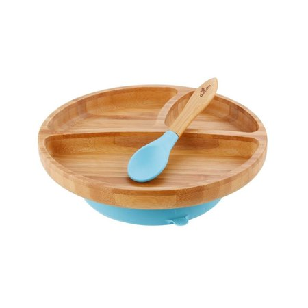 Avanchy Bamboo & Silicone Suction Plate & Spoon