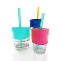 Universal Silicone Straw Tops (Sea/Berry/Cobalt)