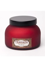 Aspen Bay Candles Traviata Red Frosted Jar-Traviata 19oz