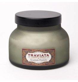 Aspen Bay Candles Traviata Olive Frosted Jar - Sandalo Violette 19oz