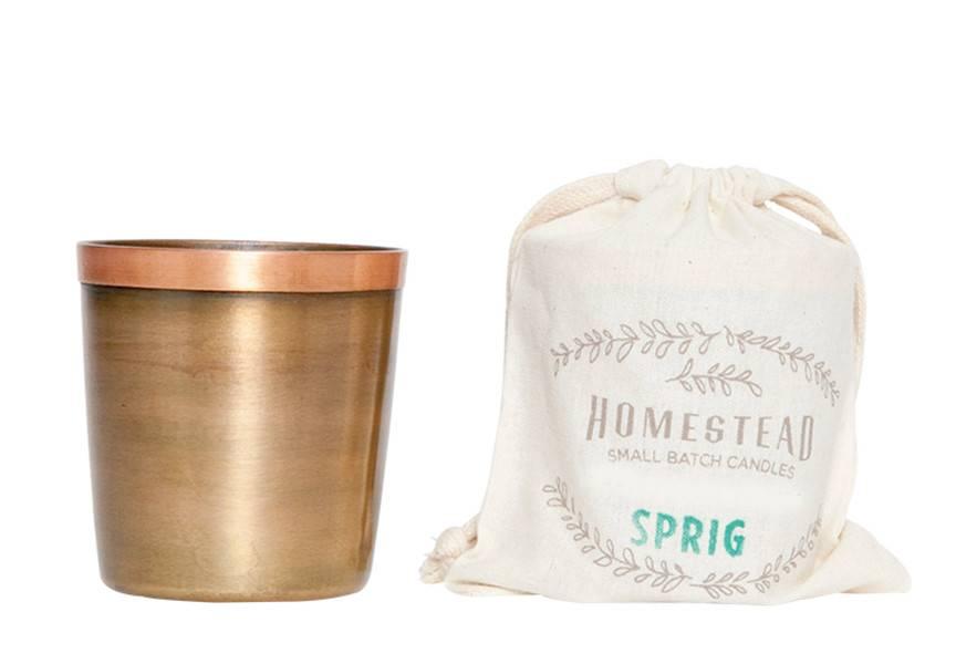 Aspen Bay Candles Cup in Cotton Bag-Sprig  8oz
