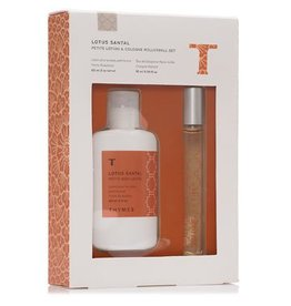 Thymes Lotus Santal Petite Lotion & Rollerball Set