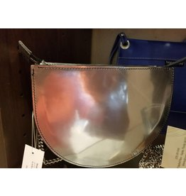 BogaBag Silver Half Circle Crossbody Bag
