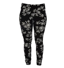 Go2 Legging Black & White Floral SM