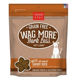 Cloud Star Wag More Bark Less Soft & Chewy Treats Savory Duck 5oz