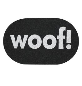 Ore Ore Pet Recycled Rubber Oval Woof! Placemat