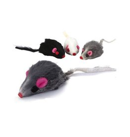 Playful Pet Playful Pet Faux Fur Mice Large