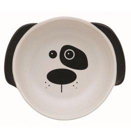 Ore Ore Pet Scruffy Dog Ceramic White Bowl