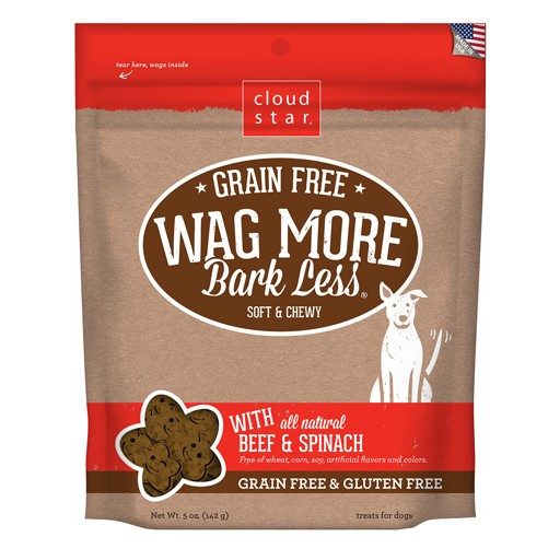 Cloud Star Wag More Bark Less Soft & Chewy Treats Beef & Spinach 5oz