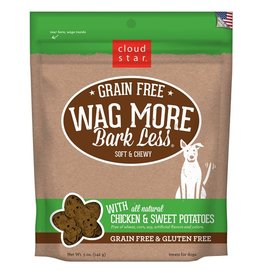 Cloud Star Wag More Bark Less Soft & Chewy Treats Chicken & Sweet Potato 5oz