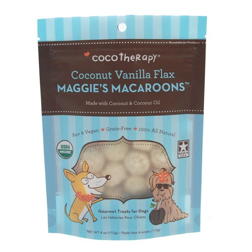 CocoTherapy Maggie's Macaroons Coconut Vanilla Flax 4oz