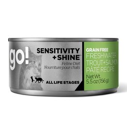 Petcurian Go Cat Can Sensitivity + Shine Freshwater Trout & Salmon Paté 5.5oz