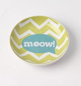 Petrageous Petrageous Zigzag Saucer Meow! Lime Green