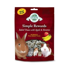 Oxbow Oxbow Simple Rewards Baked Treats w/ Apple & Banana, 2oz