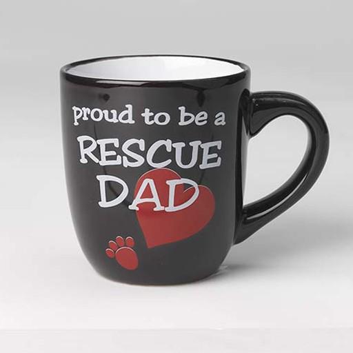 Petrageous Petrageous Lucky Paws Proud to be a Rescue Dad Mug 18oz