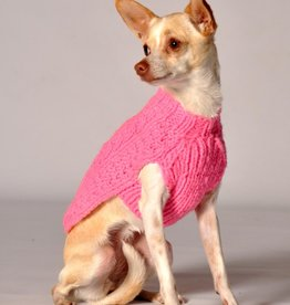 Chilly Dog Chilly Dog Pink Cable Knit