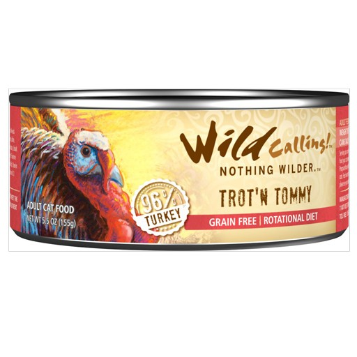 Wild Calling Wild Calling Cat Can Trot-N-Tommy 96% Turkey 5.5oz