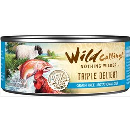 Wild Calling Wild Calling Cat Can Triple Delight 96% Lamb, Salmon and Chicken 5.5oz