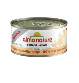 Almo Almo Nature Cat 100% Tuna and Shrimps in Broth 70g