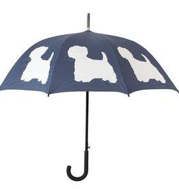 San Francisco Umbrella Company West Highland Terrier Walking Stick Umbrella Midnight Blue/White