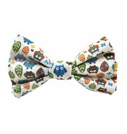 Bow Wow Couture Bow Wow Couture Owls in Cream Bow Tie