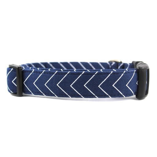 Bow Wow Couture Bow Wow Couture Pinstripe Chevron Navy Collar