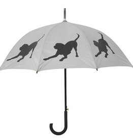 San Francisco Umbrella Company Labrador Retriever Walking Stick Umbrella Silver/Black