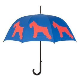 San Francisco Umbrella Company Schnauzer Walking Stick Umbrella Red/Blue
