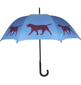 San Francisco Umbrella Company Labrador Retriever 2 Walking Stick Umbrella Light Blue/Purple