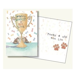 Dog Speak Dog Speak Greeting Card Pet Sitter World's Greatest