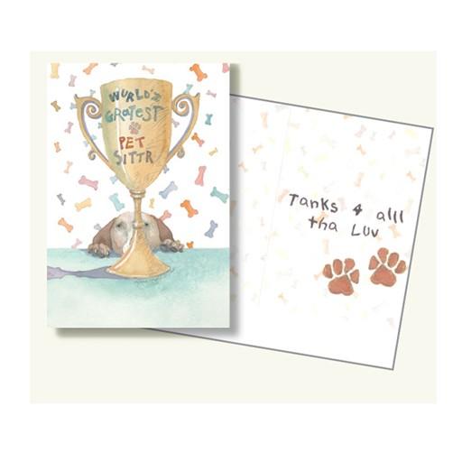 Dog Speak Dog Speak Greeting Card Pet Sitter World's Greatest