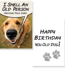 Dog Speak Dog Speak Greeting Card Birthday I Smell An Old Person