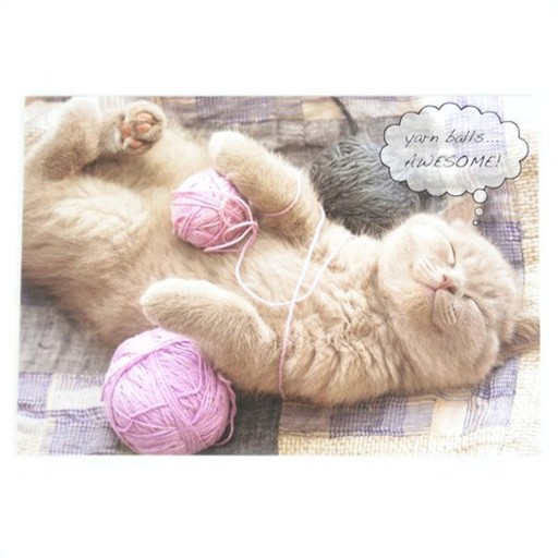 Dog Speak Dog Speak Greeting Card Birthday Cat Yarn Balls