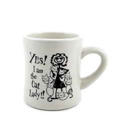"Dog Speak Dog Speak ""Yes! I am the Cat Lady"" Mug 10oz"