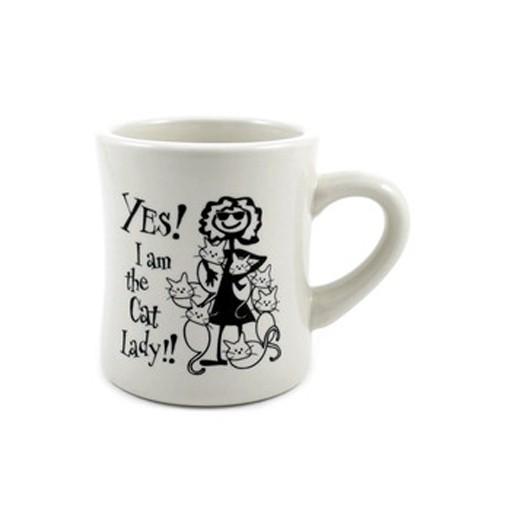 """Dog Speak Dog Speak """"Yes! I am the Cat Lady"""" Mug 10oz"""