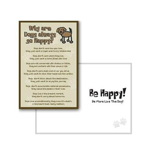 Dog Speak Dog Speak Greeting Card Cope Why Dogs Are Always So Happy?