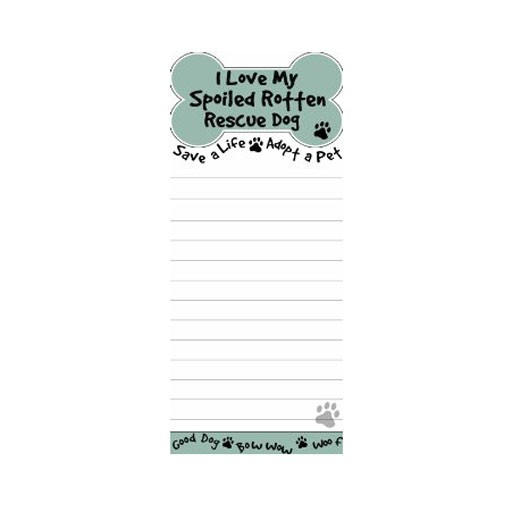 "E&S E&S Pets Magnetic Notepad ""I Like Big Mutts..."""