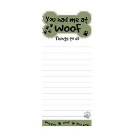 "E&S E&S Pets Magnetic Notepad ""You Had Me at Woof"""