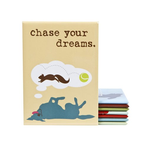"""Dog is Good Dog is Good Magnet """"Chase Your Dreams"""""""